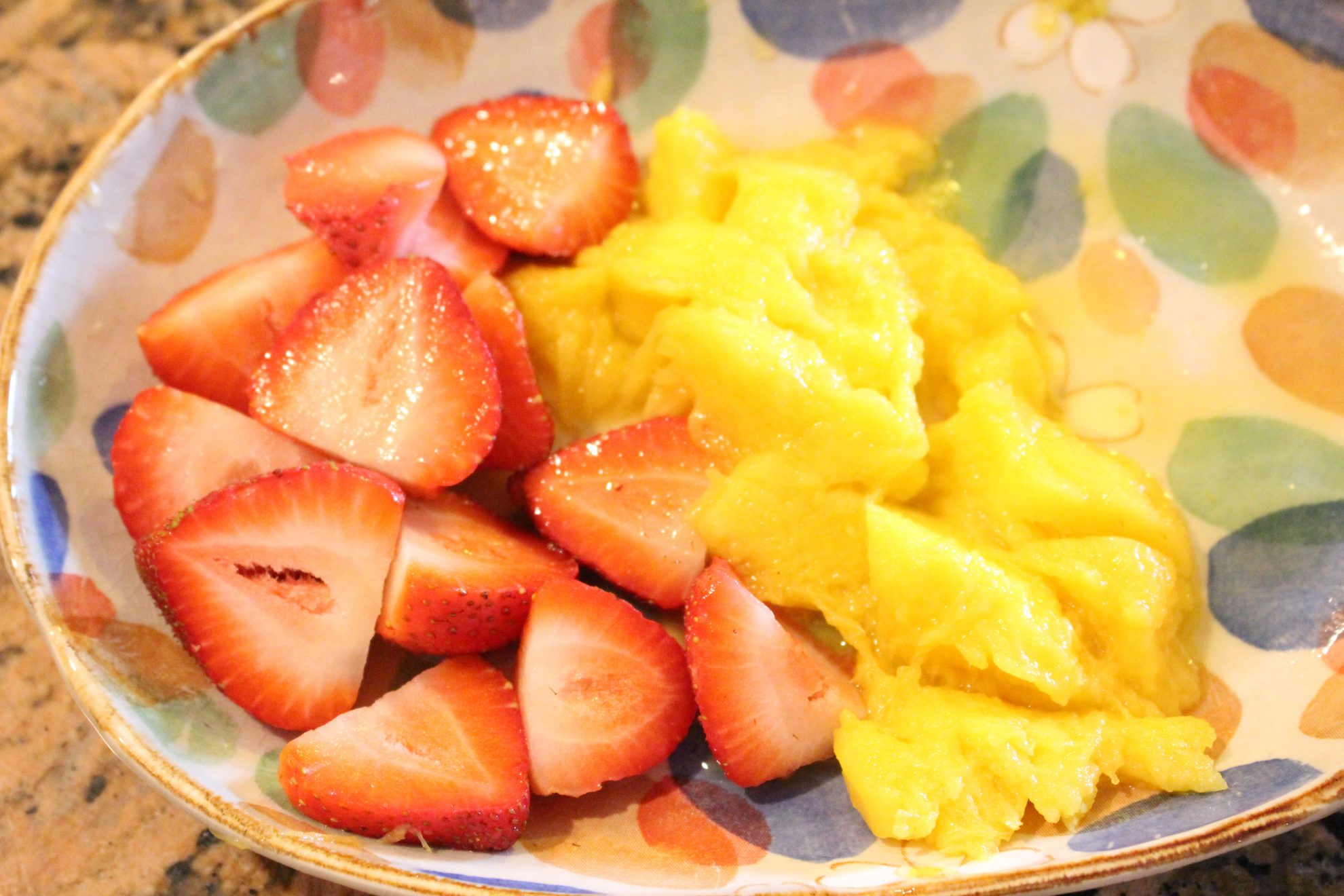 Homemade Mango and Strawberry Baby Cereal…