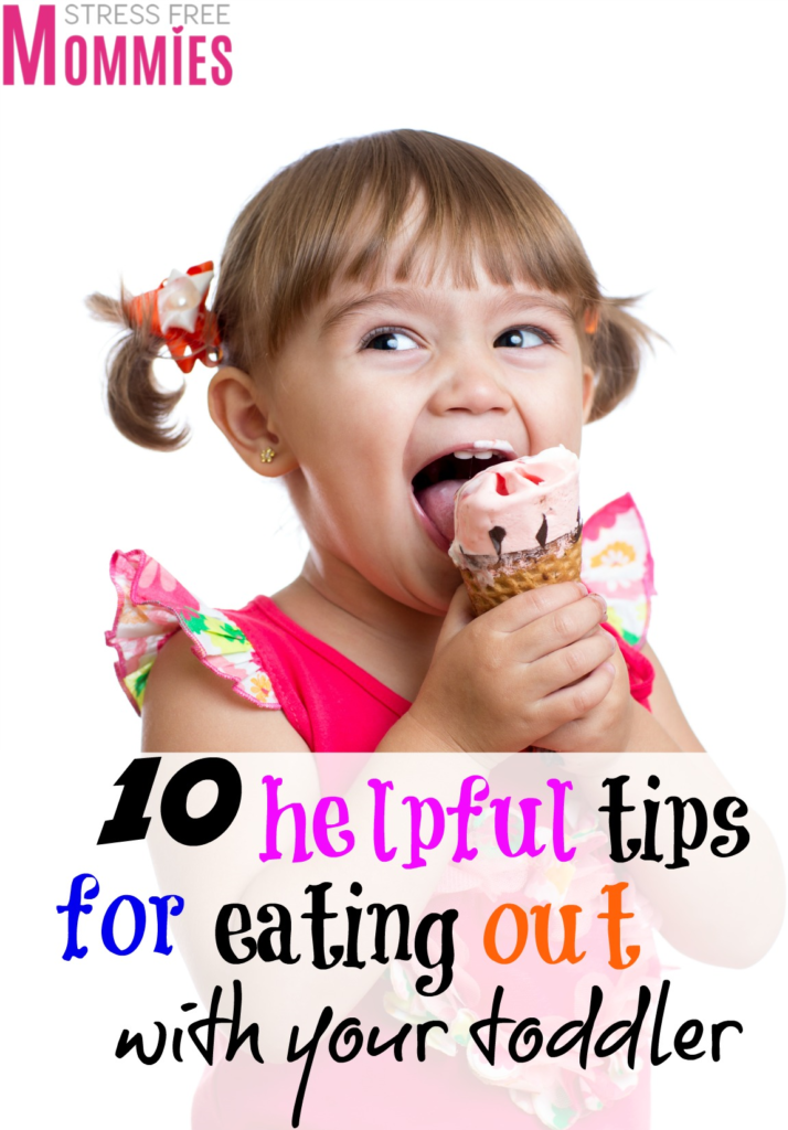 10 helpful tips for eating out with your toddler- Easy and helpful tips for eating out with your toddler that you won't want to miss! This helped me so much and now I'm not so reluctant to eating out with my family and I actually enjoy it! Must read. Thanks for pinning!