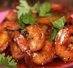 Shrimp Teriyaki/Camarones en salsa Teriyaki