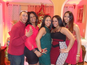 my parents and sisters with me