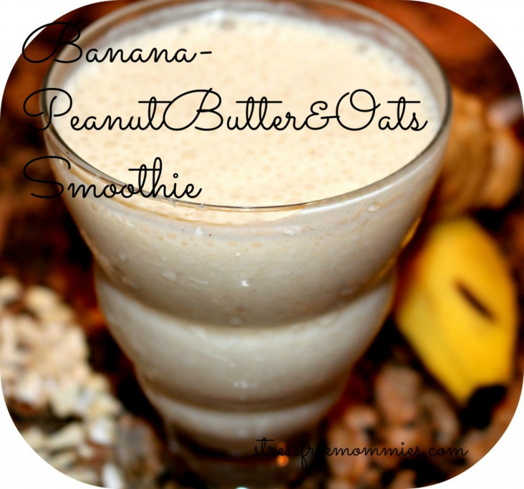 smoothie peanut butter banana and oats