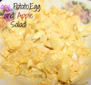 Potato, Egg and Apple Salad + Video/ Ensalada de papas con Huevos y Manzana + video