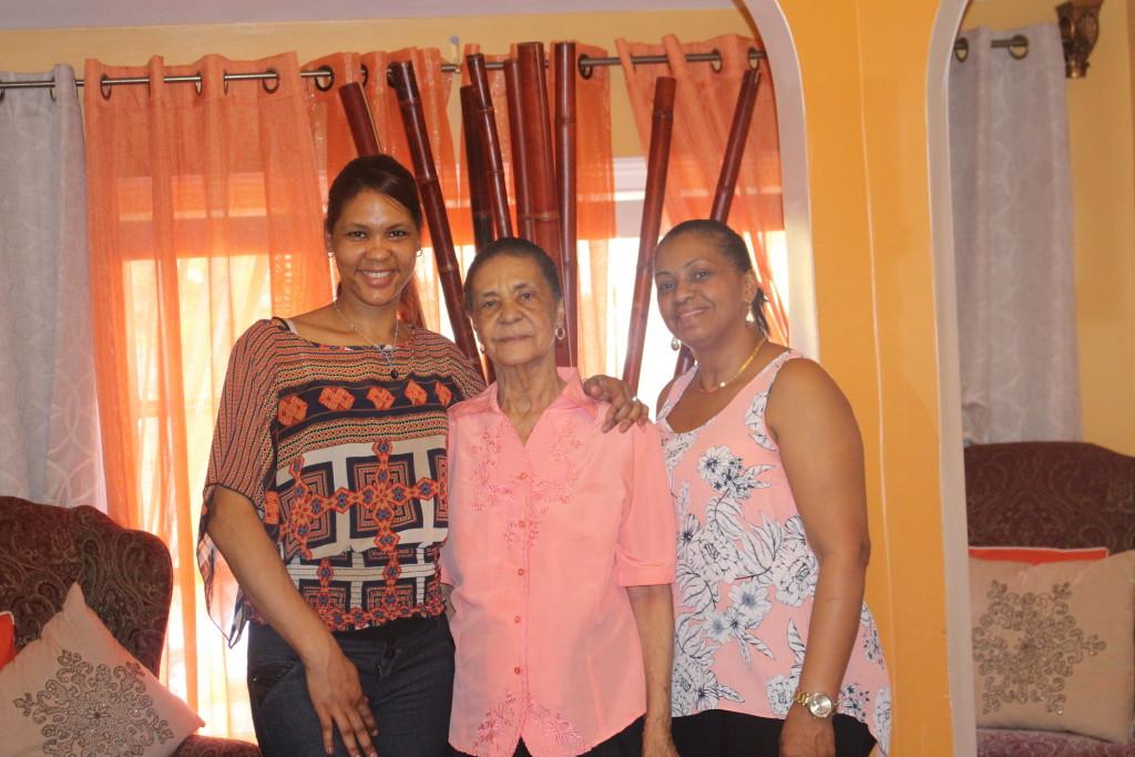 aunty, grandma and mom