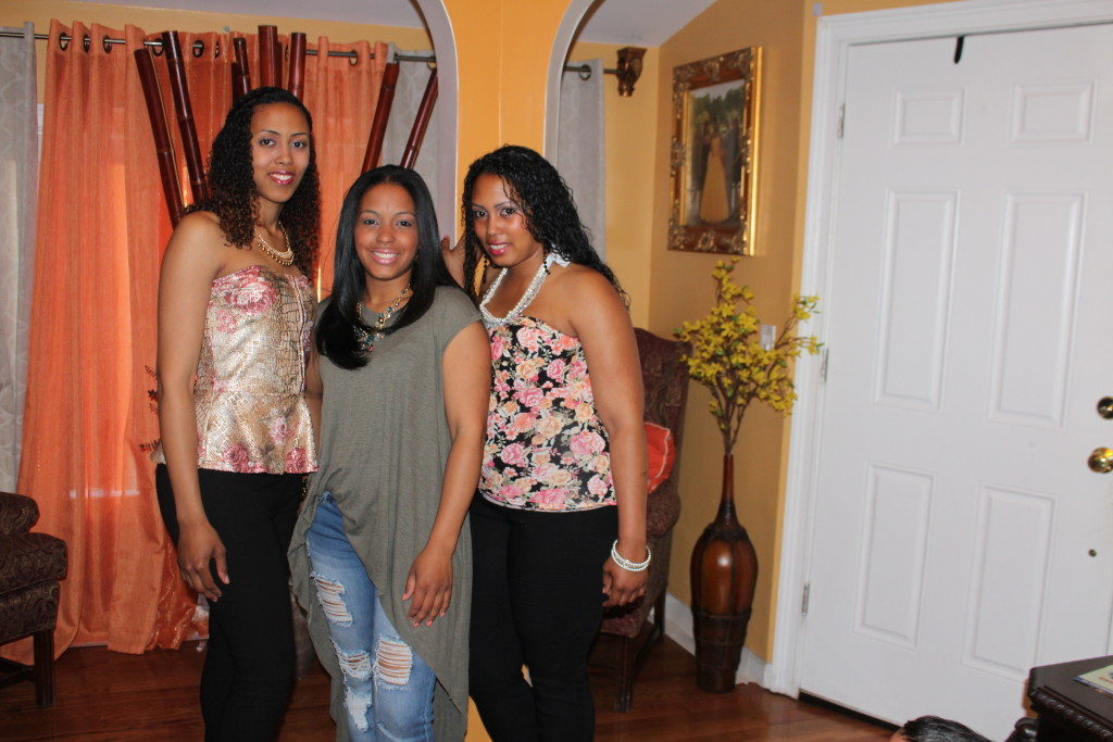 Me and my sisters before going to the baby shower