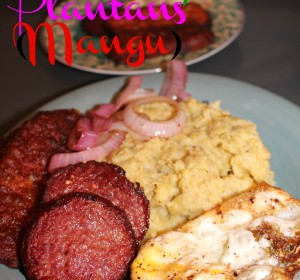 Dominican Mangú (mashed green plantains)