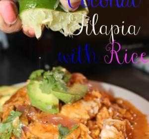 Saucy Coconut tilapia with Rice/ Tilapia en salsa de Coco con Arroz