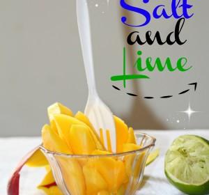 Delicious Mango with Salt and Lime snack / Delicioso aperitivo de Mango con Limon y Sal