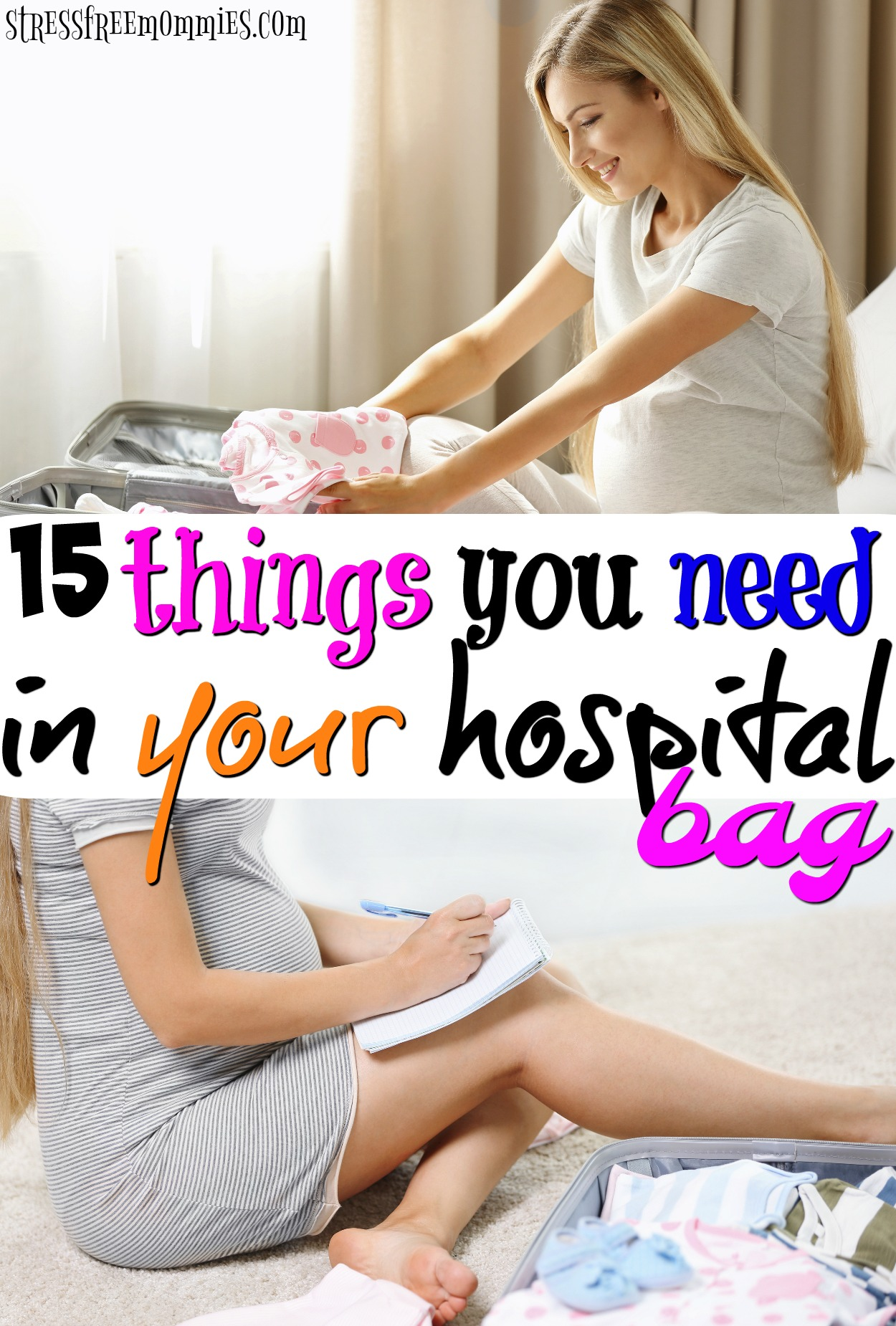 The simple hospital bag check list. Find out what to pack in your hospital bag with no over-packing, no fuss, just essentials. Hospital bag check list for mom.