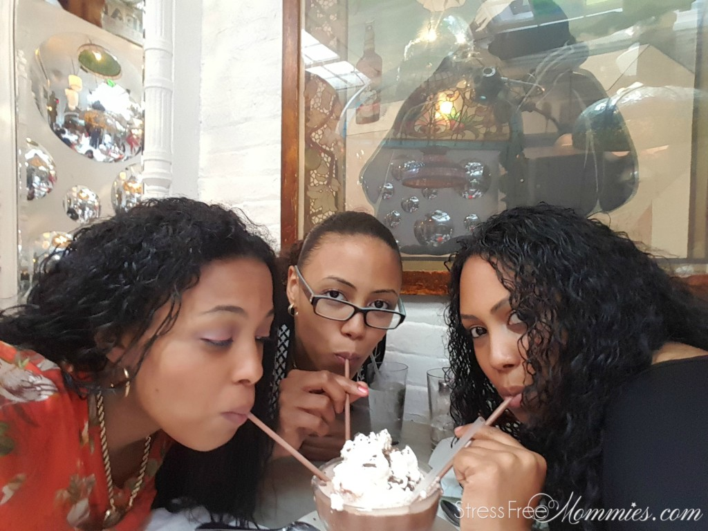 sisters eating at serendipity