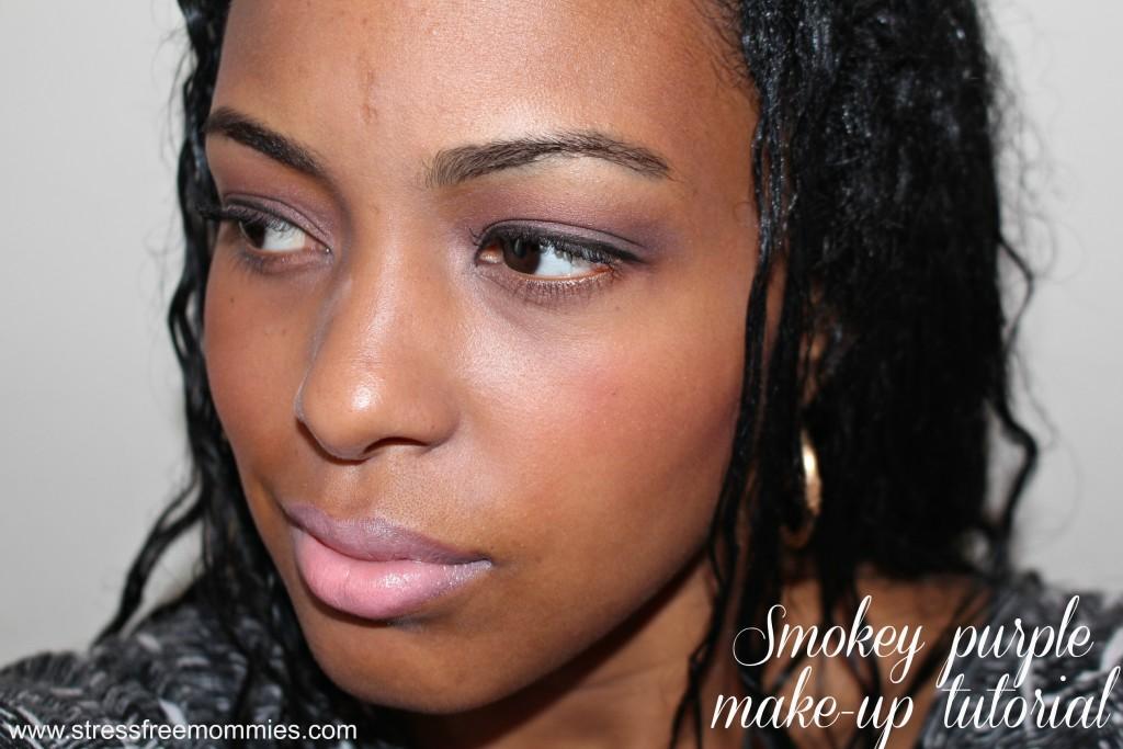 smokey purple eyes tutorial