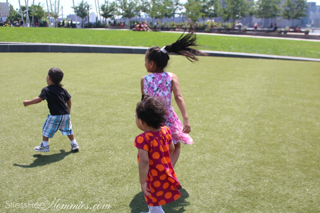 kids running around at the park