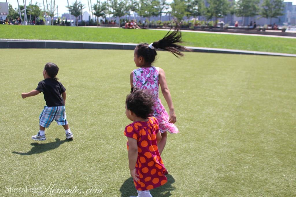kids running around at the park