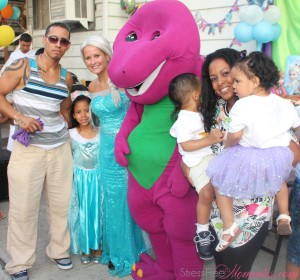 Frozen and Barney Birthday Party in Pictures