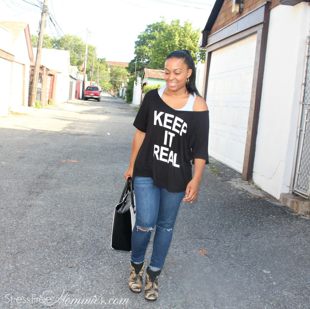 outfit of the day, black top with jeans