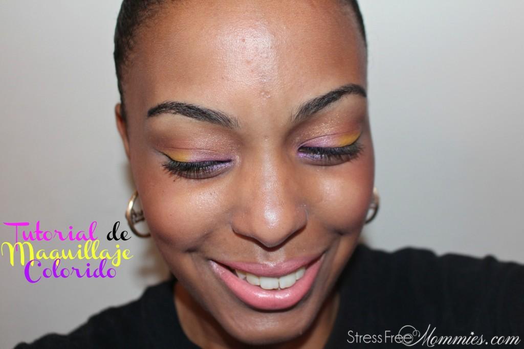tutorial de maquillaje colorido