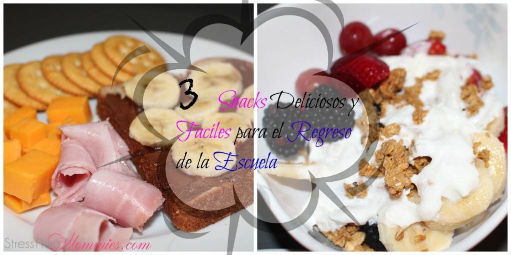 3 snacks para el regreso de la escuela