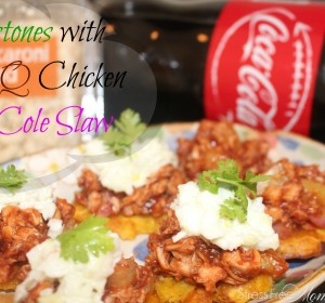 Tostones with BBQ Chicken and Coleslaw (easy dinner ideas)