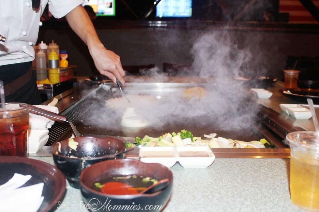 hibachi food cooking
