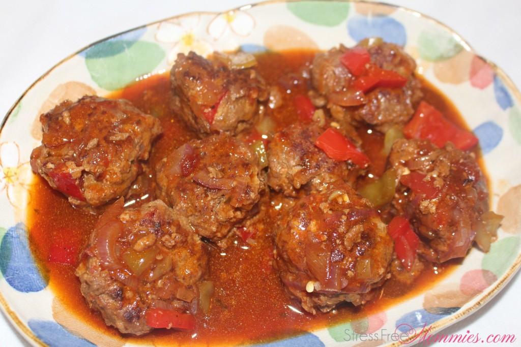how to make meatballs in teriyaki and garlic sauce