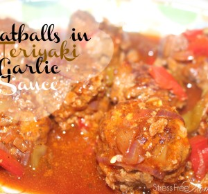Meatballs in a Teriyaki garlic sauce