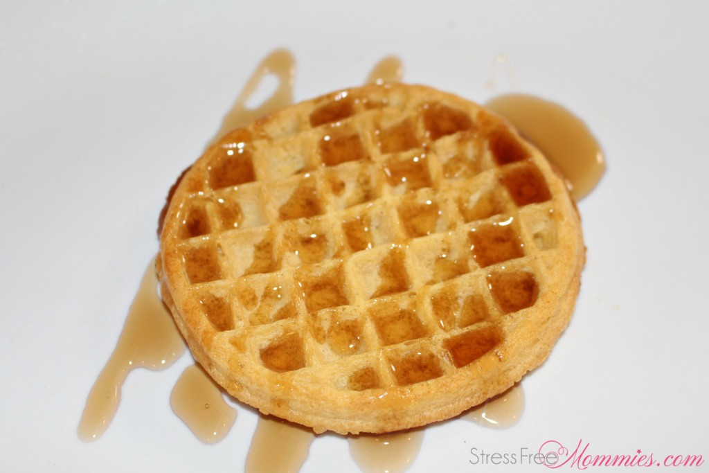 waffles with pancake syrup