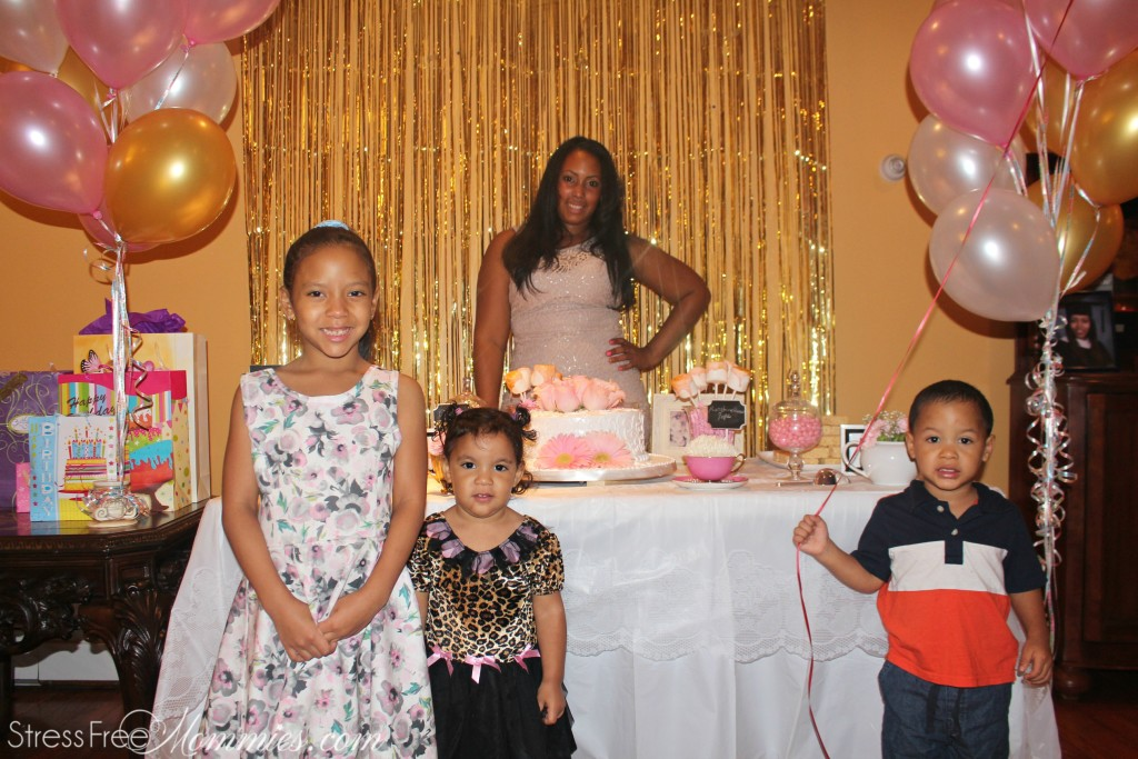 birthday girl with my kids