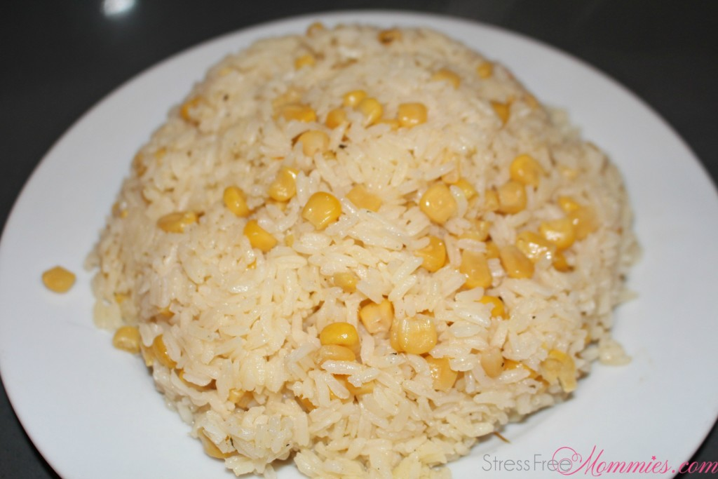 quick rice with corn recipe