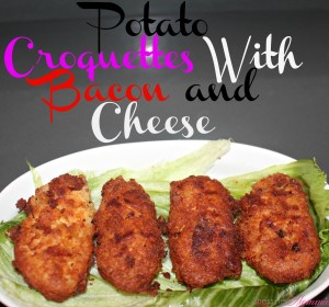 Potato Croquettes with Bacon and Cheese