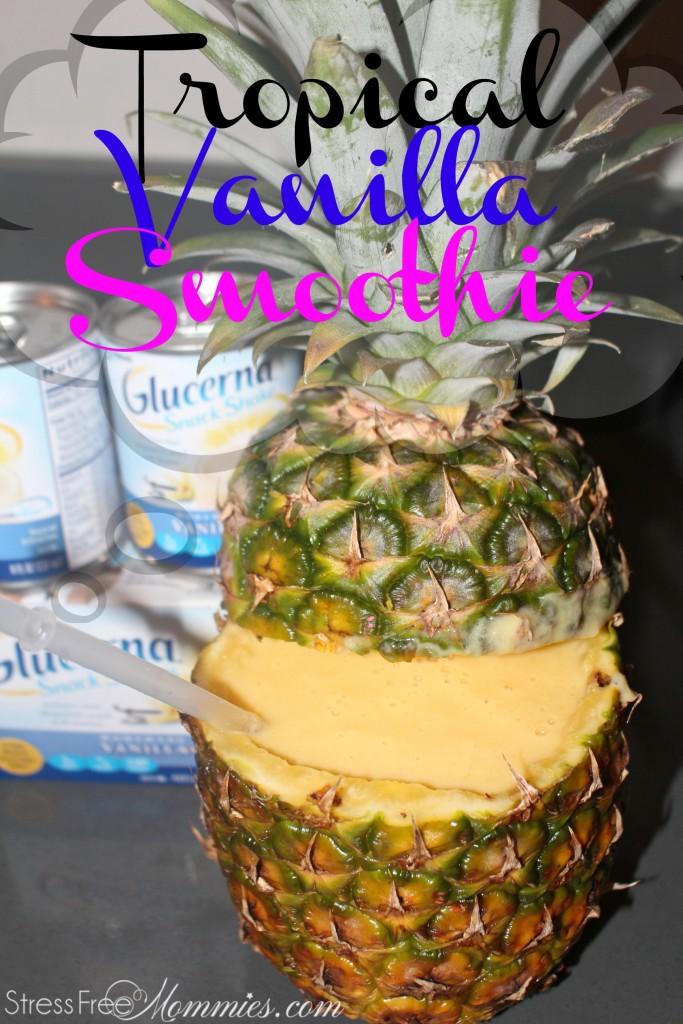 diabetes friendly tropical vanilla smoothie