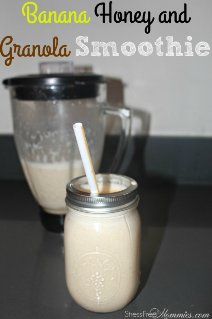 banana, granola and honey smoothie