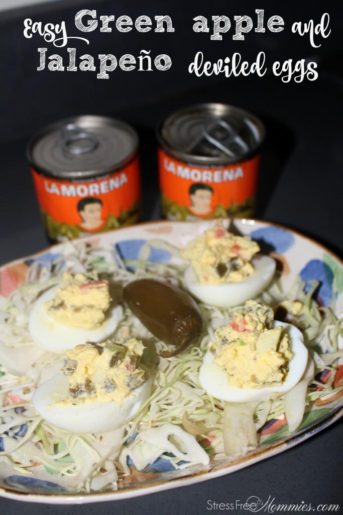 La morena jalapeño deviled eggs