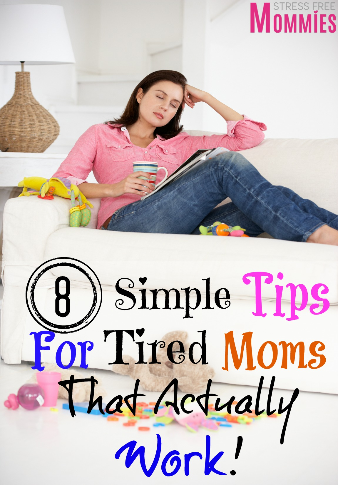 Simple tips that are going to change your life as a tired mom. Learn how to be more productive throughout the day even if you\'re tired! #tiredmom #momtips