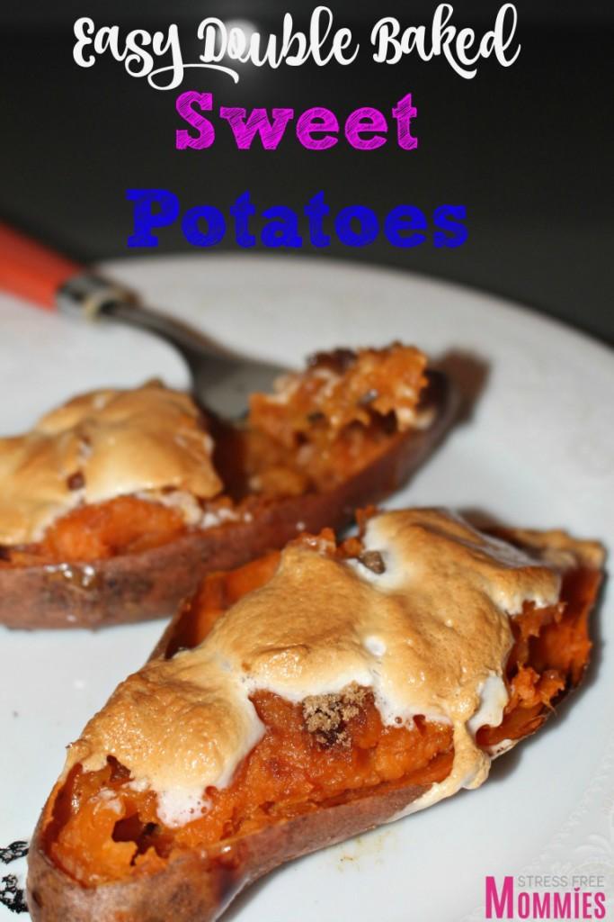 double baked sweet potato