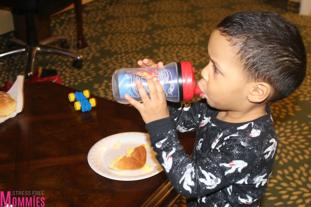 drinking in sippie cup