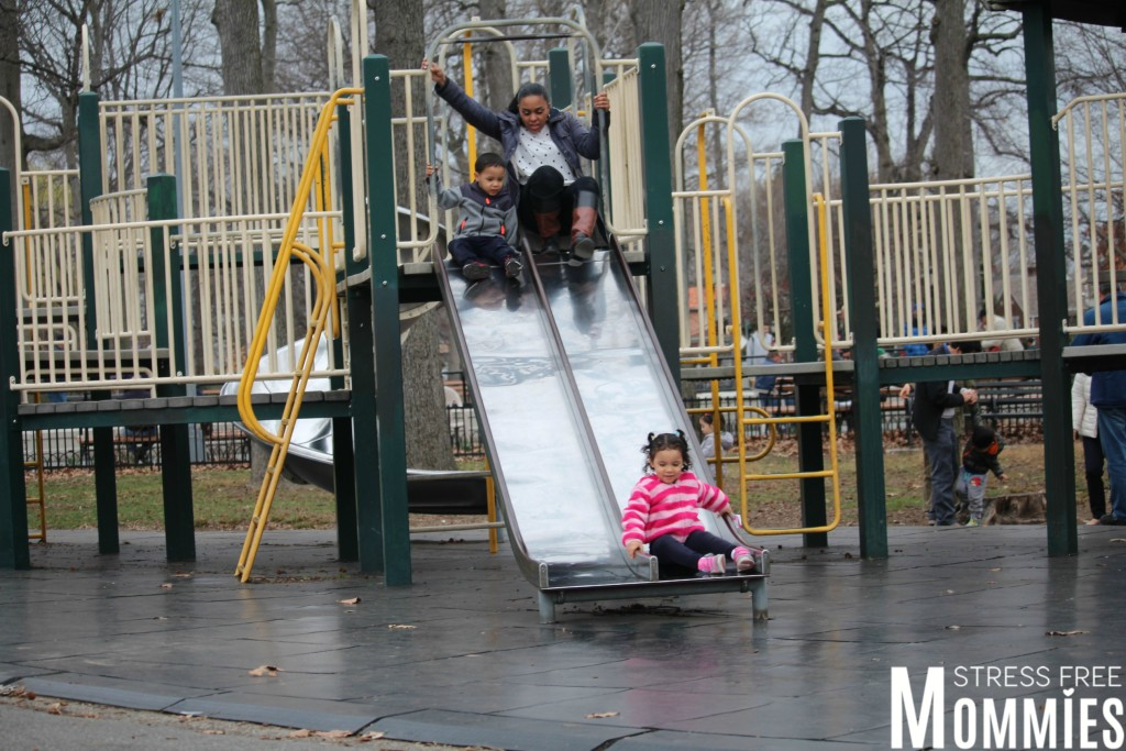 mommy on slide