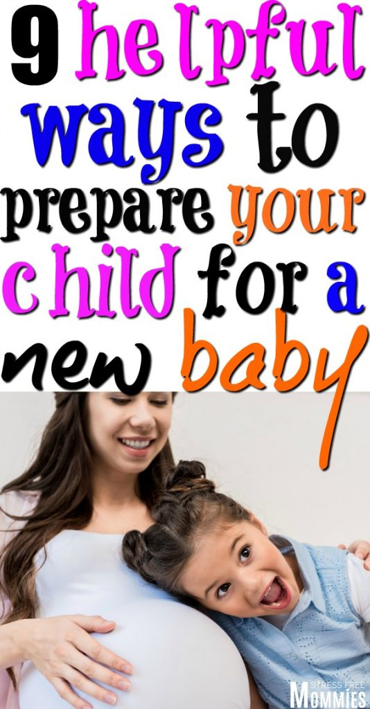 how to prepare your child for a new baby. Helpful tips to get your oldest child excited for the new baby!