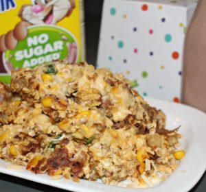 Overstuffed cheesy potato hash