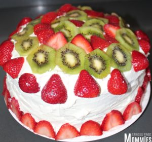 Strawberry Kiwi Shortcake Cake