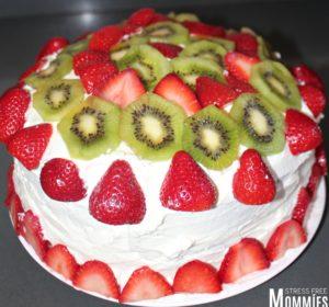 strawberry, kiwi cake