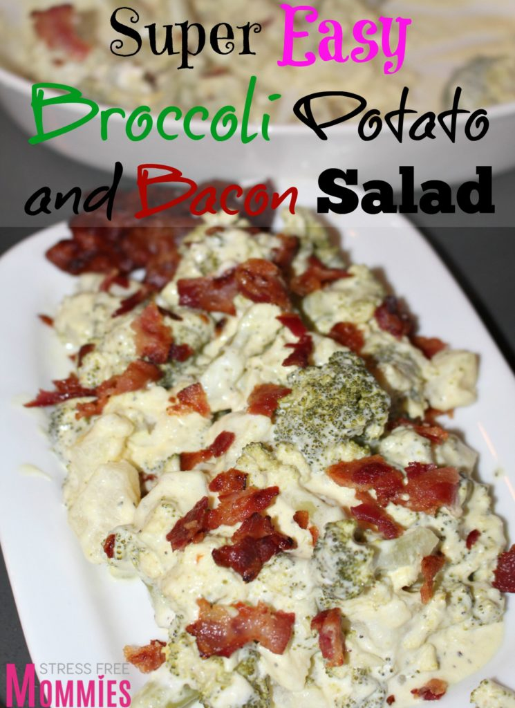 broccoli potato and bacon salad