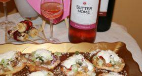 Chicken Fajitas Tostadas with Sutter Home Wine