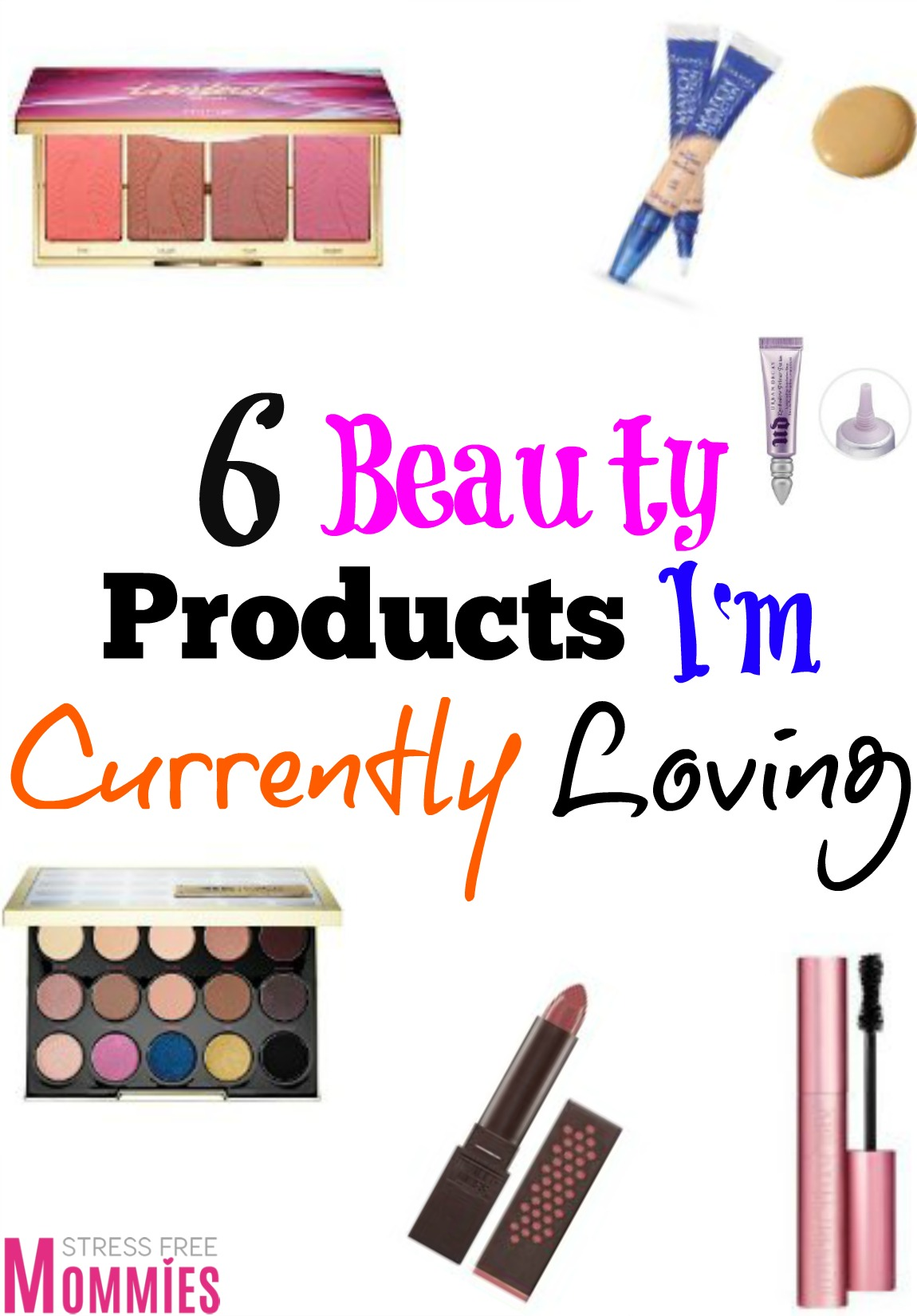 Fun beauty products for moms to feel and look beautiful! There\'s a mix of high end and drugstore beauty products from mascara, concealer and blushes!