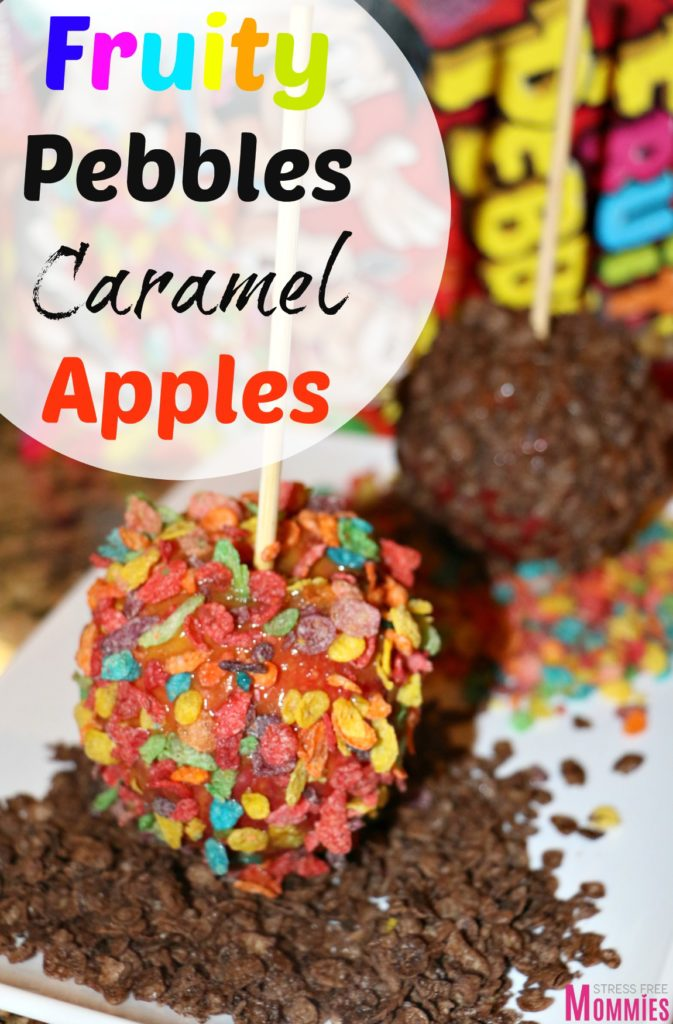 OMG you have to make this! Super easy and the perfect snack for kids! What's better than fruity pebbles coated apples?