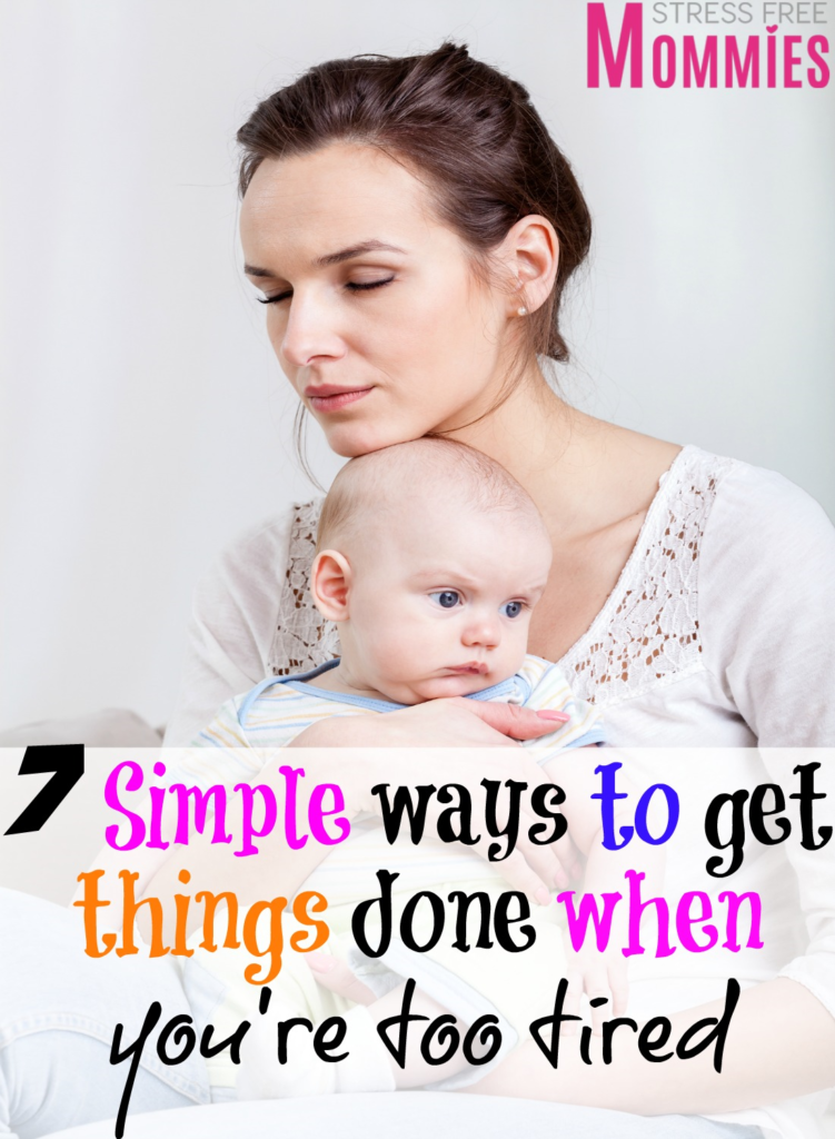 As moms we have a lot on our plates. Sometimes is hard to get things done because we're too tired. We do not know how to say know and take care of ourselves.This article will show you the ways to get things done when you're too tired. So you can be more productive and happy!
