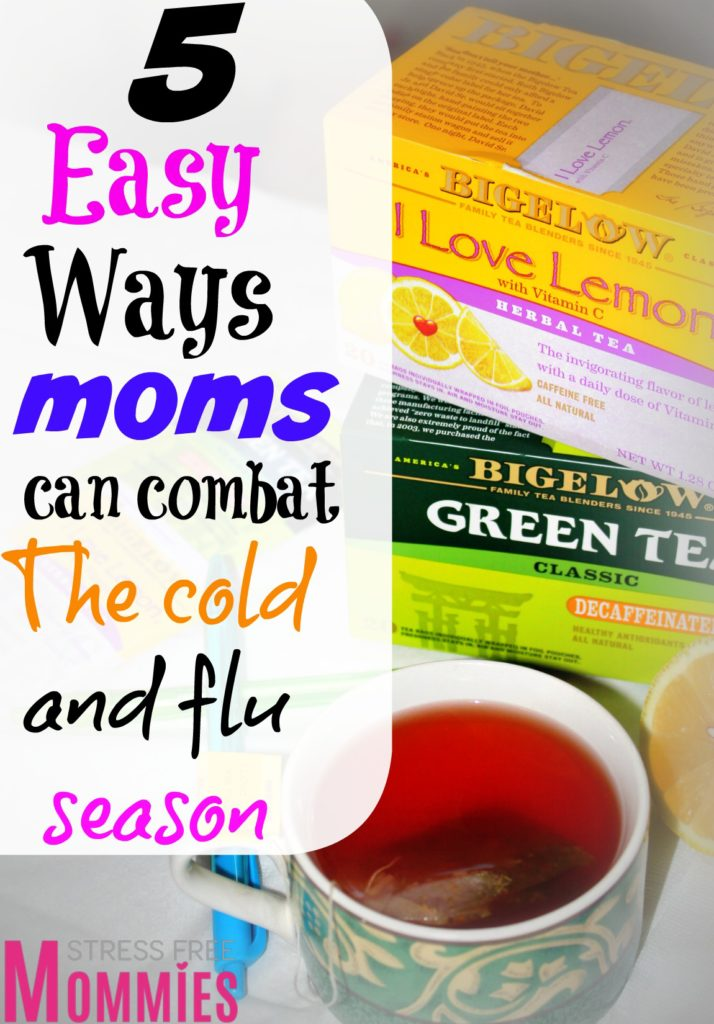 5 easy ways moms can combat the cold and flu season- I know every mom tries her best to not get sick, why? because we can't afford it! These tips are so easy to follow and will help you combat the flu this season, try it for yourself and get back to being the mom boss that you are! It helped me!