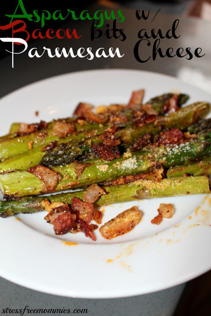 Asparagus with bacon bits