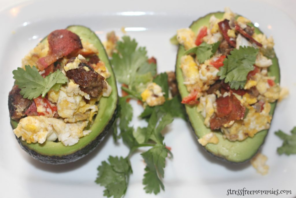 Vegetarian loaded stuffed avocado