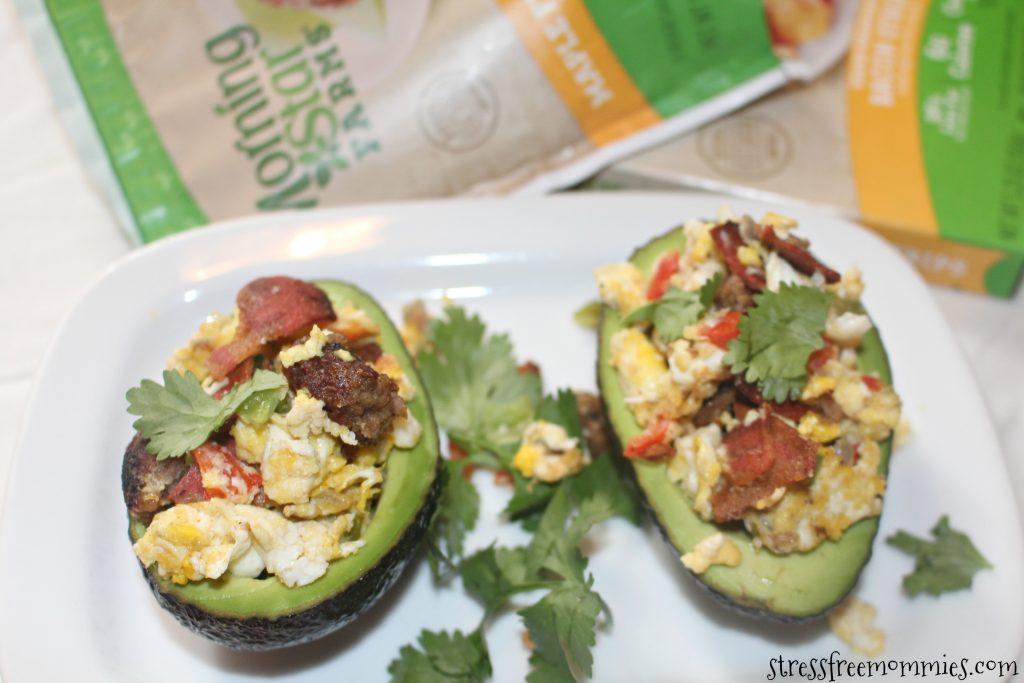 Vegetarian loaded stuffed avocado