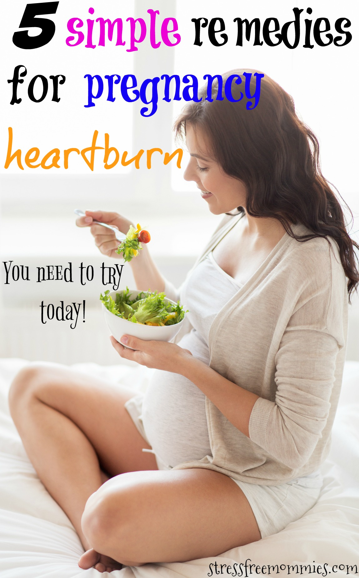 5 simple remedies for pregnancy heartburn.These natural home remedies will help you alleviate or even eliminate heartburn completely. Try it today! #pregnancy #pregnancyhacks #momlife