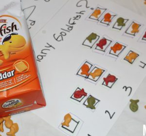 An easy and fun way to learn the numbers with goldfish